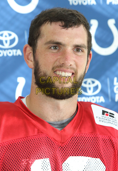 Andrew Luck at the Indianapolis Colts Press Conference at The Grove Hotel, Chandlers Cross, Watford, Herts. Indianapolis are here to play in the latest NFL International Series game at Wembley Stadium vs Jacksonville Jaguars on Sunday October 2nd 2016 - Pictured on September 30th 2016<br /> CAP/JIL<br /> &copy; Jill Mayhew/Capital Pictures