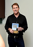MIAMI, FL - SEPTEMBER 30: Author Nicholas Sparks discusses his book 'The Longest Ride' presented by Books and Books at Chapman Conference Center at Miami Dade College on September 30, 2013 in Miami, Florida. (Photo by Johnny Louis/jlnphotography.com)