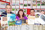 DISPLAY: Checking out the new Listowel Tidy Towns Wildlife Project which is on display at Listowel library, l-r: Paudie Carey (Tidy Towns), Martina Daly (Librarian), Cllr Jimmy Moloney (Tidy Towns).