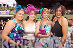 Mary O'Shea, Janelle Moriarty Beaufort, Dorinda Burke and Christine O'Donoghue, Killarney pictured at Killarney Races Ladies day on Thursday.