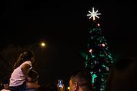 SAO PAULO, SP - 26.11.2016 - ARVORE-NATAL-SP - Inaugura&ccedil;&atilde;o da &Aacute;rvore de Natal na noite deste S&aacute;bado (26), no Parque do Ibirapuera, zona sul de S&atilde;o Paulo.<br /> <br /> (foto: Fabricio Bomjardim / Brazil Photo Press)
