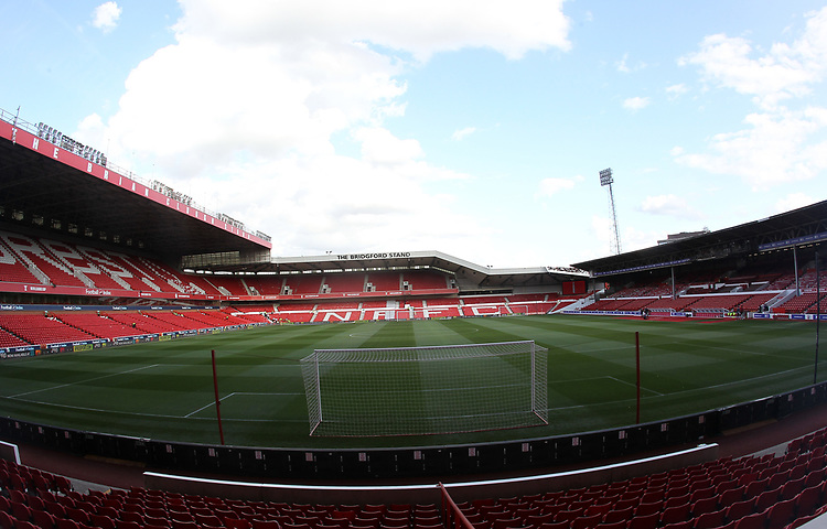 A general view of The City Ground home of Nottingham Forest<br /> <br /> Photographer Mick Walker/CameraSport<br /> <br /> The Carabao Cup First Round - Nottingham Forest v Fleetwood Town - Tuesday 13th August 2019 - The City Ground - Nottingham<br />  <br /> World Copyright © 2019 CameraSport. All rights reserved. 43 Linden Ave. Countesthorpe. Leicester. England. LE8 5PG - Tel: +44 (0) 116 277 4147 - admin@camerasport.com - www.camerasport.com