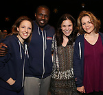Jessie Mueller, Joshua Henry, Lindsey Mueller, Renee Fleming during the Actors' Equity Broadway Opening Night Gypsy Robe Ceremony honoring Jess LeProtto for 'Carousel' at the Imperial Theatre on April 12, 2018 in New York City.