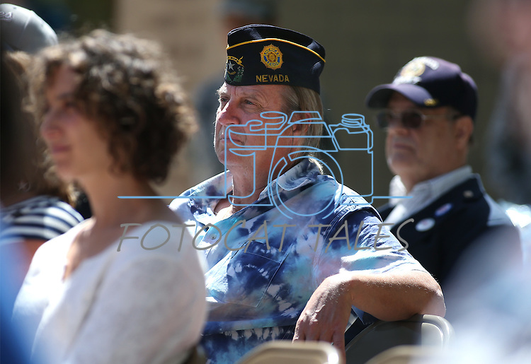 Tod Jennings listens to the 2016 Flag Day & Army Birthday ceremony at the Capitol in Carson City, Nev., on Tuesday, June 14, 2016.<br />Photo by Cathleen Allison