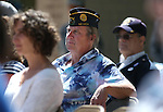 Tod Jennings listens to the 2016 Flag Day &amp; Army Birthday ceremony at the Capitol in Carson City, Nev., on Tuesday, June 14, 2016.<br />