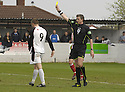 21/04/2007       Copyright Pic: James Stewart.File Name : sct_jspa29_gretna_v_clyde.COLIN MCMENAMIN IS BOOKED AFTER HIS GOAL WAS DISALLOWED FOR HAND TIME......James Stewart Photo Agency 19 Carronlea Drive, Falkirk. FK2 8DN      Vat Reg No. 607 6932 25.Office     : +44 (0)1324 570906     .Mobile   : +44 (0)7721 416997.Fax         : +44 (0)1324 570906.E-mail  :  jim@jspa.co.uk.If you require further information then contact Jim Stewart on any of the numbers above.........