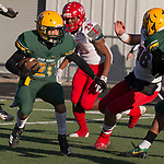A photograph during the Bishop Manogue Miners  vs Arbor View Aggies NIAA 4A State Semi-Final football game played at McQueen High School on Saturday, Nov. 24,2018.