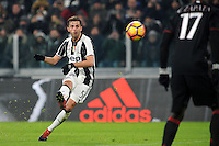 Calcio, quarti di finale di Tim Cup: Juventus vs Milan. Torino, Juventus Stadium, 25 gennaio 2017.<br /> Juventus' Miralem Pjanic kicks on a free kick during the Italian Cup quarter finals football match between Juventus and AC Milan at Turin's Juventus stadium, 25 January 2017.<br /> UPDATE IMAGES PRESS/Manuela Viganti