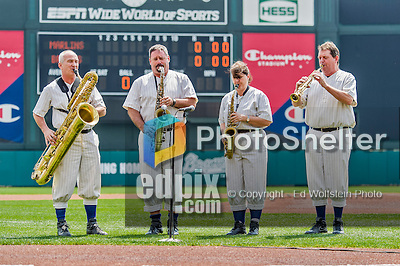 19 March 2015: The Walt Disney World Philharmonic Saxophone Quartet play the National Anthem prior to a Spring Training game between the Miami Marlins and the Atlanta Braves at Champion Stadium in the ESPN Wide World of Sports Complex in Kissimmee, Florida. The Braves defeated the Marlins 6-3 in Grapefruit League play. Mandatory Credit: Ed Wolfstein Photo *** RAW (NEF) Image File Available ***
