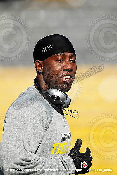 November 6, 2010; Hamilton, Ontario, Canada; Hamilton Tiger-Cats defensive back Marc Beswick (3). CFL football: BC Lions vs. Hamilton Tiger-Cats at Ivor Wynne Stadium. The Lions defeated the Tiger-Cats 23-21. Mandatory Credit: Ron Scheffler.