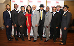 Andre Holland, John Douglas Thompson, Ray Anthony Thomas, Carra Patterson, Ruben Santiago-Husdon, Anthony Chisholm, Michael Potts, Harvy Blanks, Keith Randolph Smith and Brandon J. Dirden attend August Wilson's 'Jitney' Broadway opening night after party at Copacabana on January 19, 2017 in New York City.