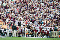 Game Day: MSU Football versus South Carolina. Game action.<br />  (photo by Megan Bean / &copy; Mississippi State University)