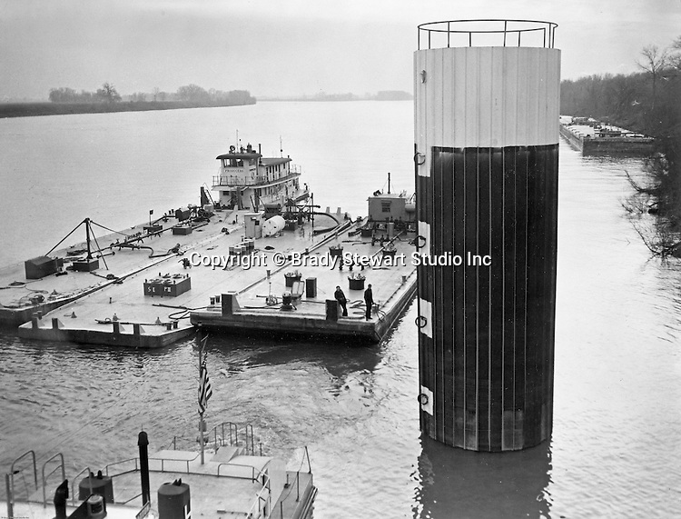 Pittsburgh PA:  View of PIttsburgh Coke and Chemical Barges - 1959