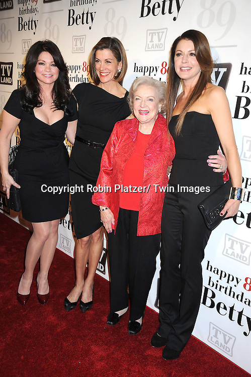 "Valerie Bertinelli, Wendie Malick, Betty White and Jane Leeves attending Betty White's 89th Birthday party given by TV Land and the cast of ""Hot in Cleveland"" on January 18, 2011 at .Le Cirque in New York City."