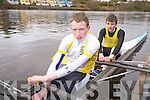 Muckross Rowing Club members Russell O'Brien and Denis Fleming pictured at the Kerry Head of the River competition in Killorglin on Saturday morning.......