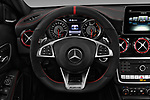Car pictures of steering wheel view of a 2018 Mercedes Benz GLA AMG 45 5 Door SUV