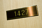 Photo shows the door to room 1427, where Irishwoman  Nicola Furlong was strangled last May, at the Keio Plaza Hotel in Tokyo, Japan on 19 March 2013. Her killer, Richard Hinds was sentenced to between 5 and 10 years in prison with labor. Photographer: Robert Gilhooly