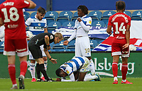 Bright Osayi-Samuel of Queens Park Rangers  goes down injured during Queens Park Rangers vs Fulham, Sky Bet EFL Championship Football at the Kiyan Prince Foundation Stadium on 30th June 2020