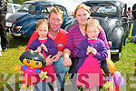 Athea Vintage Rally : Attending Athea Vintage Rally on Sunday last were  twins Leah & Leona Wall with their parents Sean & Helen Wall, Athea.