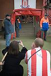 Stoke City 2 Bristol City 1, 19th April 2008. The mascots parents await the teams entrance.Photo by Paul ThompsonStoke City 2 Bristol City 1, 19/04/2008. Britannia Stadium, Championship. Photo by Paul Thompson.