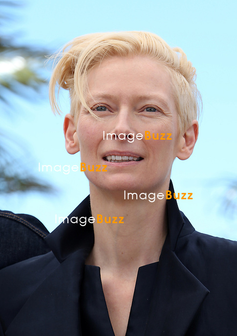 CPE/Director Jim Jarmusch, Actress Tilda Swinton and actors Tom Hiddleston, John Hurt attend the 'Only Lovers Left Alive' Photocall during the 66th Annual Cannes Film Festival on May 25, 2013 in Cannes, France