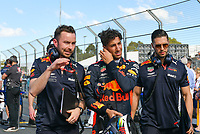 March 25, 2018: Daniel Ricciardo (AUS) #3 from the Aston Martin Red Bull Racing team on the grid prior to the start of the 2018 Australian Formula One Grand Prix at Albert Park, Melbourne, Australia. Photo Sydney Low