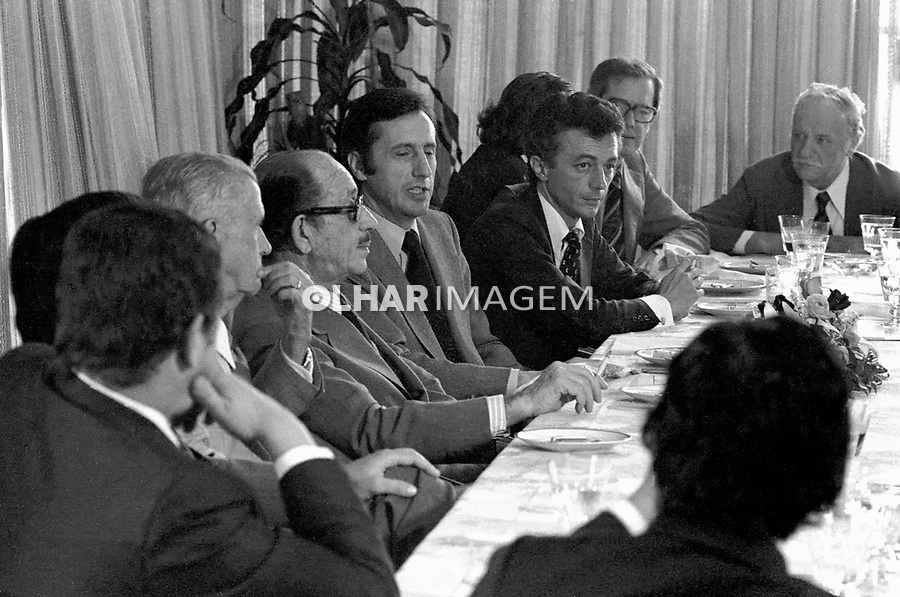 Almoço de empresários da FIESP. SP. 1978. Foto de Juca Martins.