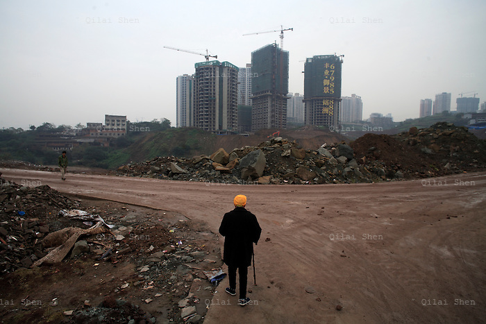 Massive housing developments seen in Chongqing, China on Wednesday, 17 October 2007.