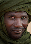 A man in Timbuktu, a city in northern Mali which was seized by Islamist fighters in 2012 and then liberated by French and Malian soldiers in early 2013.