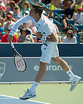 Milos Raonic (CAN) defeats Fabio Fognini (ITA)  6-1, 6-0 at the Western & Southern Open in Mason, OH on August 15, 2014.