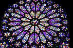 Stained Glass Window, St Denis Cathedral, Paris, France