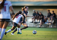 STANFORD, CA - August 10, 2018: Tierna Davidson at Laird Q. Cagan Stadium. The Stanford Cardinal defeated the Fresno State Bulldogs 4-0.