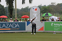 SSP Chawrasia (Asia) on the 3rd tee during the Saturday Foursomes of the Eurasia Cup at Glenmarie Golf and Country Club on the 13th January 2018.<br /> Picture:  Thos Caffrey / www.golffile.ie