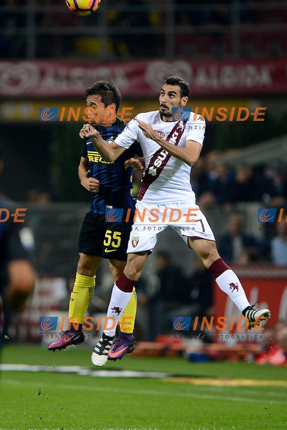 Yuto Nagatomo Inter, Davide Zappacosta Torino<br /> Milano 26-10-2016 Stadio Giuseppe Meazza - Football Calcio Serie A Inter - Torino. Foto Giuseppe Celeste / Insidefoto