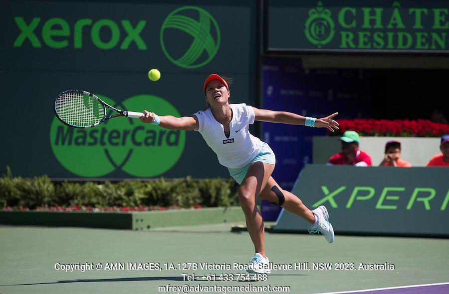 NA LI (CHN)<br /> <br /> Tennis - Sony Open -  Miami -   ATP-WTA - 2014  - USA  -  23 March 2014. <br /> <br /> &copy; AMN IMAGES