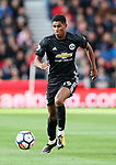 Manchester United's Marcus Rashford in action during the premier league match at the Britannia Stadium, Stoke on Trent. Picture date 9th September 2017. Picture credit should read: David Klein/Sportimage