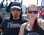 Art Sorpia and Stephanie Puckey at the Air Races at the Reno-Stead Airfield on Sunday, Sept. 20, 2015.