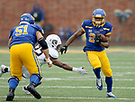 SIOUX FALLS, SD - NOVEMBER 3: Deyon Campbell #24 from South Dakota State looks for running room against Missouri State during their game Saturday afternoon at Dana J. Dykhouse Stadium in Brookings. (Photo by Dave Eggen/Inertia)