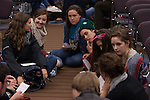 Participants of the session High School Students can Change the World session share ideas at Powershift. Over six thousand young people from all over the country are converging in Pittsburgh, PA for Power Shift 2013, a massive training dedicated to bringing about a safe planet and a just future for all people. (Photo by: Robert van Waarden)