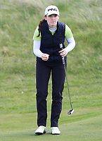 Lauren Walsh (Castlewarden) on the 8th green during Round 3 of the Irish Women's Open Stroke Play Championship 2018 on Sunday 13th May 2018.<br /> Picture:  Thos Caffrey / Golffile<br /> <br /> All photo usage must carry mandatory copyright credit (&copy; Golffile | Thos Caffrey)