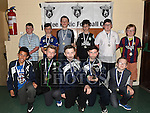 Players from The Ardee United Under 11 with their medals at the Ardee Celtic annual awards night in Ardee parish centre. Photo:Colin Bell/pressphotos.ie