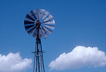 An Aeromotor windmill going full tilt, the American west, Colorado, USA,