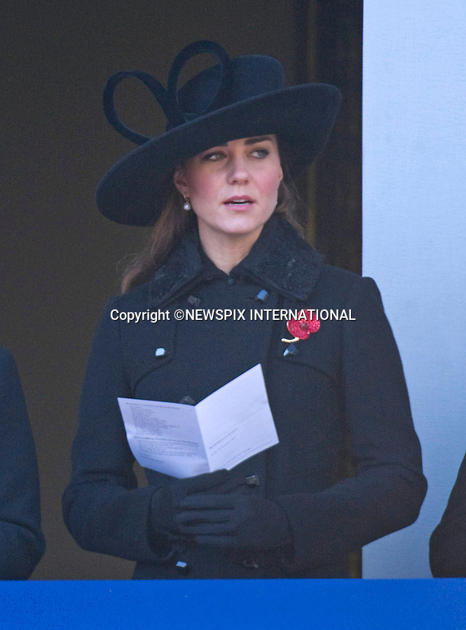 """KATE FIGHTS BACK TEARS AT REMEMBRANCE SERVICE.CATHERINE, DUCHESS OF CAMBRIDGE ATTENDS REMEMBRANCE SERVICE.Kate joined other Royal Ladies for the annual the Remembrance Service at the Cenotaph, London_11th November 2012.Royals present included The Queen, Duke of Edinburgh, Prince William, Kate, Princess Anne, Prince Andrew, Prince Edward, Sophie Wessex, Princess Beatrice, Princess Eugenie and the Duke of Kent..Prince Charles and Camilla were absent as they were on tour in New Zealand, while Prince Harry is serving in Afghanistan..©FRANCIS DIAS - NEWSPIX INTERNATIONAL..Mandatory credit photo:NEWSPIX INTERNATIONAL(Failure to credit will incur a surcharge of 100% of reproduction fees)..**ALL FEES PAYABLE TO: """"NEWSPIX  INTERNATIONAL""""**..Newspix International, 31 Chinnery Hill, Bishop's Stortford, ENGLAND CM23 3PS.Tel:+441279 324672.Fax: +441279656877.Mobile:  07775681153.e-mail: info@newspixinternational.co.uk"""
