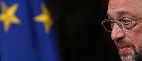 Il Presidente del Parlamento Europeo Martin Schulz durante la conferenza stampa congiunta col Presidente del Consiglio a Palazzo Chigi, Roma, 10 maggio 2013..European Parliament's President Martin Schulz attends a joint press conference with Italian Premier at Chigi Palace, Rome, 10 May 2013..UPDATE IMAGES PRESS/Isabella Bonotto