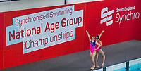 Picture by Allan McKenzie/SWpix.com - 25/11/2017 - Swimming - Swim England Synchronised Swimming National Age Group Championships 2017 - GL1 Leisure Centre, Gloucester, England - Zoe Dimond & Lilly Todd.