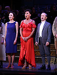 "Bebe Neuwirth, Vanessa Williams,  Joel Grey during the final performance curtain call for the New York City Center Encores! at 25 production of  ""Hey, Look Me Over!"" on February 11, 2018 at the City Center Theatre in New York City."