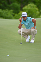 Rafael Cabrera Bello (ESP) lines up his birdie putt on 8 during round 1 of the AT&T Byron Nelson, Trinity Forest Golf Club, Dallas, Texas, USA. 5/9/2019.<br /> Picture: Golffile | Ken Murray<br /> <br /> <br /> All photo usage must carry mandatory copyright credit (© Golffile | Ken Murray)