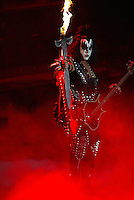 Gene Simmons and KISS perform at the Forum