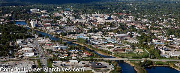 aerial photograph Iowa City, Iowa
