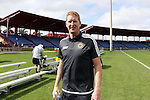 11 January 2015: Philadelphia Union head coach Jim Curtin. The 2015 MLS Player Combine was held on the cricket oval at Central Broward Regional Park in Lauderhill, Florida.